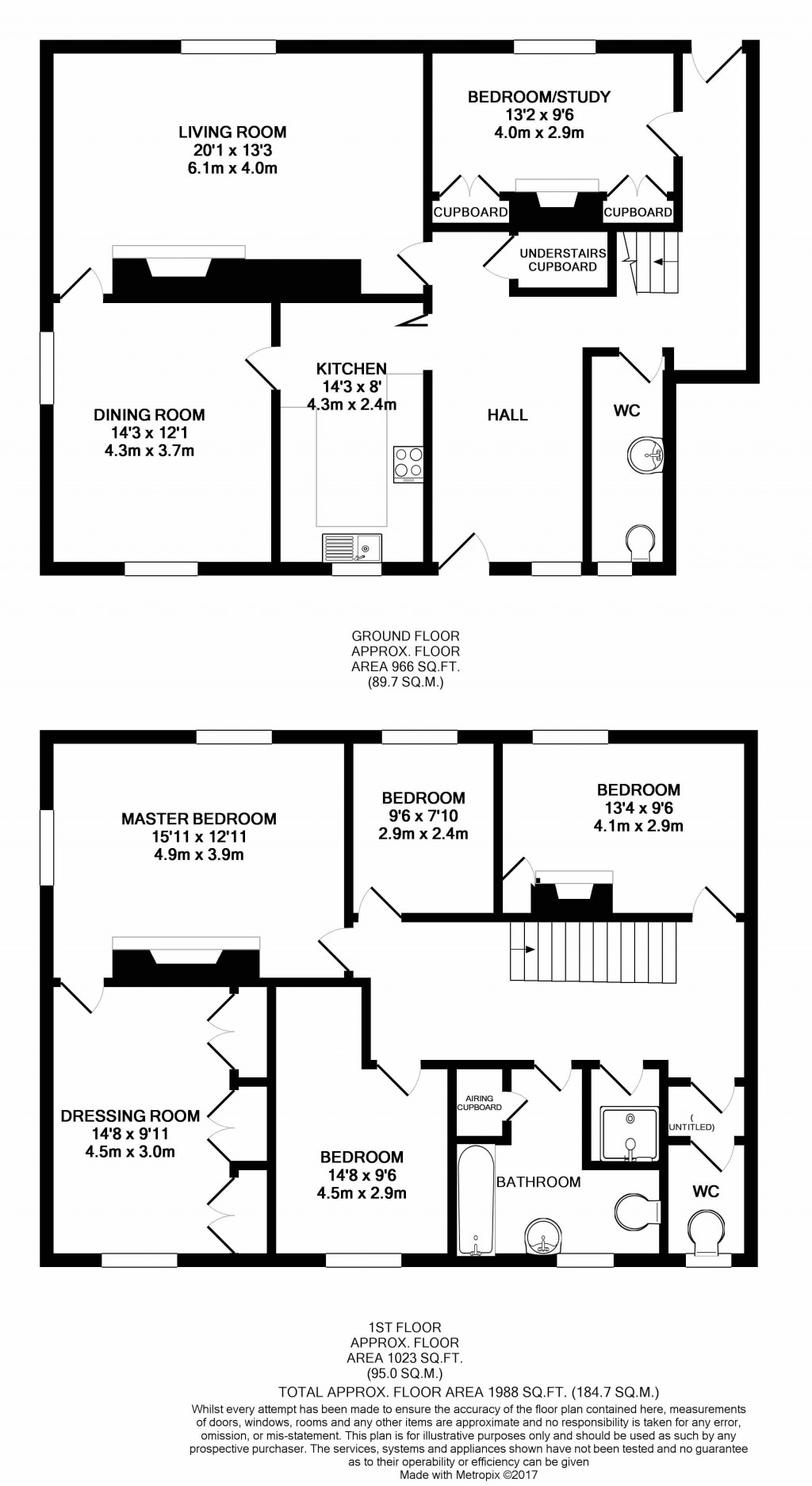 Floorplans For Church Street, Shipton-under-Wychwood