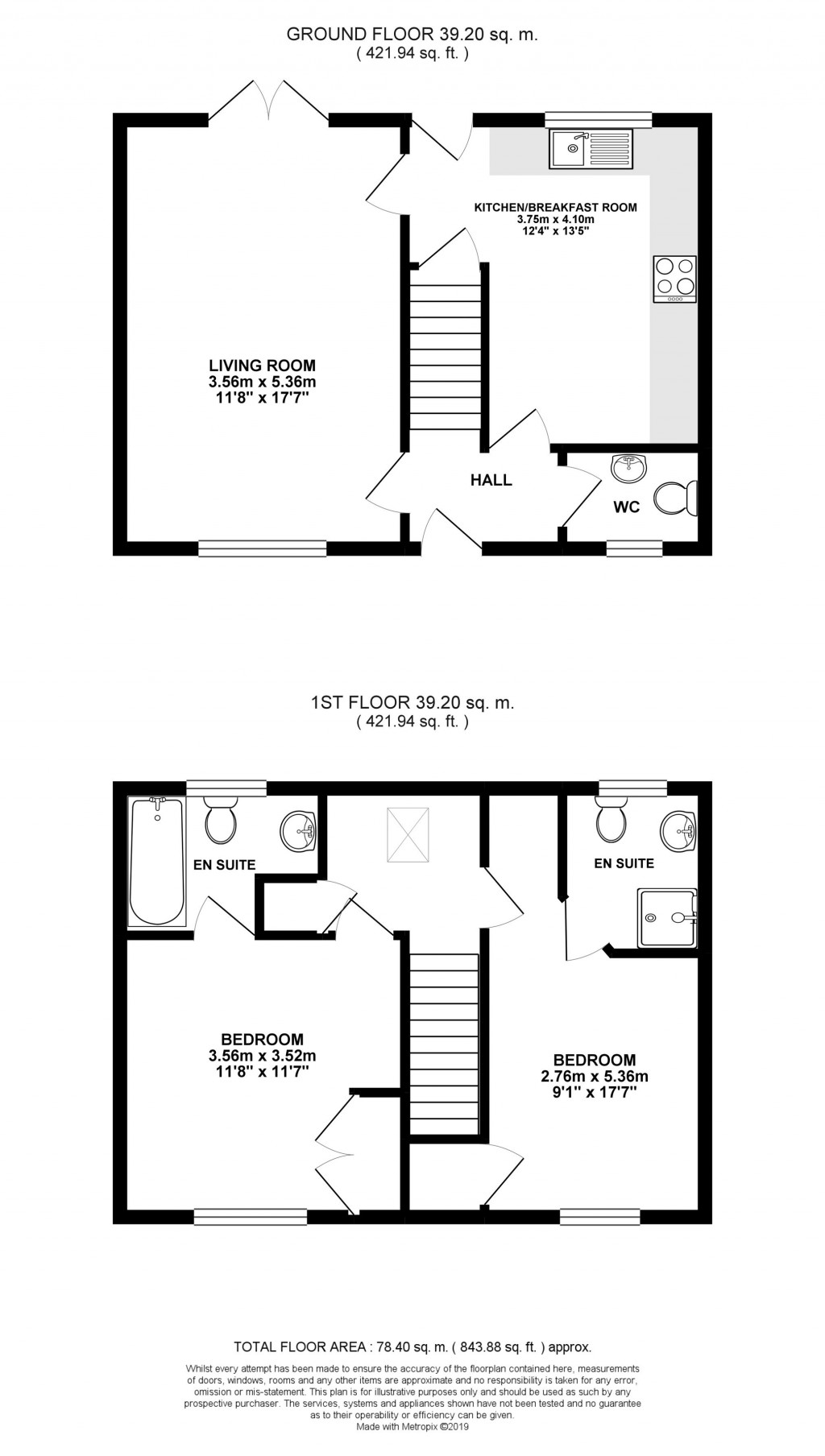 Floorplans For Acer Close, Bradwell Village