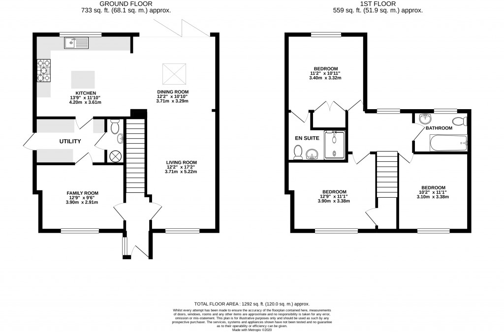 Floorplans For St. Michaels Close, Shipton-under-Wychwood