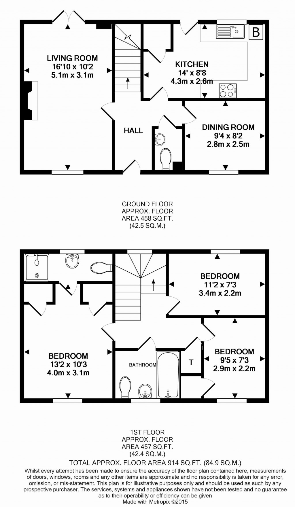 Floorplans For Bathing Place Lane, Witney